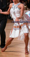 L3914 Ballroom Samba Cha Cha Ramba Latin  Rhythm US 4 Dance dress fringes