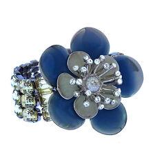 Auth Miu Miu bracelet Flower motif Ladies used C1682