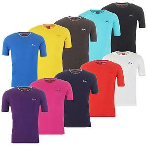 Slazenger-t-shirt-algodon-Tipped-Basic-camisa-senores-S-M-L-XL-XXL-3xl-4xl-nuevo