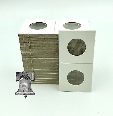 500 Penny Dime 1.5x1.5 Coin Holder Cardboard Mylar Mount Flip 1 1//2 x 1 1//2
