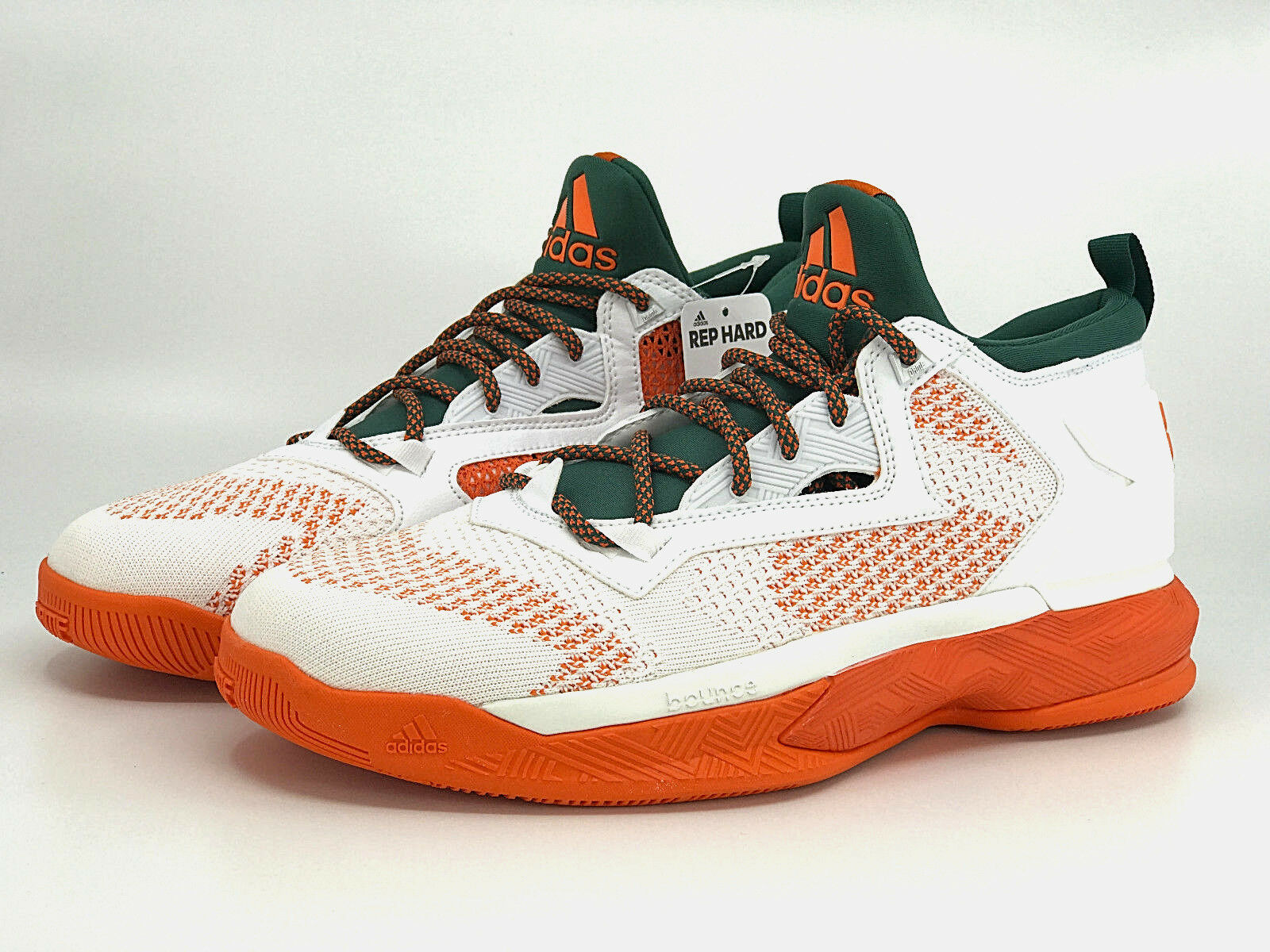 Adidas Dame 2 D LILLARD 2 WHITE PK NBA BASKETBALL SHOES WHITE 2 GREEN ORANGE NEW cd470d