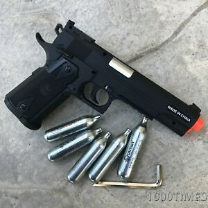 CO2-Airsoft-Pistol-Gun-with-free-5-CO2-Cartridges-amp-2000-BBs-Colt-1911