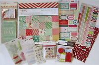 Crate Paper [ Bundled Up] Paper Pad & Embellishment (set D) Save 60%