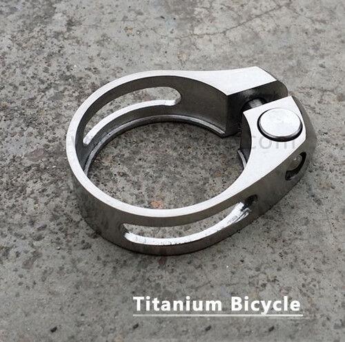 31.8 34.9mm Titanium Bicycle Seatpost Holder Allen Clip Bike Seat Post Clamp