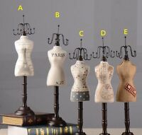 Jewelry Display Mannequin Earring Necklace Model Holder Vintage Gift Home Decor