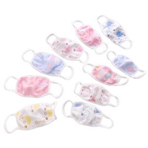 3pcs Kids Children Cotton Cloth Dustproof Protective Face Mouth Muflle Cover AU