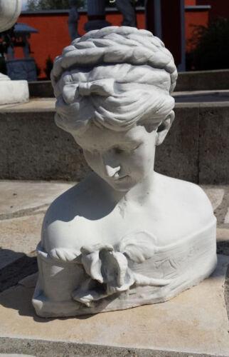 "Gartenfiguren Menschen Büste /""IRIS/"" 28 cm Skulpturen Steinguss Gartendeko"