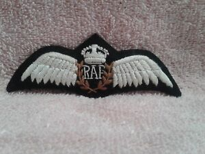 EMBROIDERED-ROYAL-AIR-FORCE-PILOT-WINGS-KING-039-S-CROWN