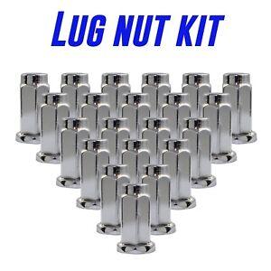 1.26 Long, 14mm Hex Wheel Accessories Parts Set of 16 Chrome 3//8 Flat Seat ATV /& UTV Wheel Lug Nuts