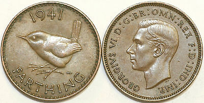 1937 to 1952 George VI Bronze Farthing Your Choice of Date