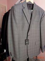 Ermenegildo Zegna Men's 2 Button 2vent Grey Plaid Suit Modern Fit Sz 40s