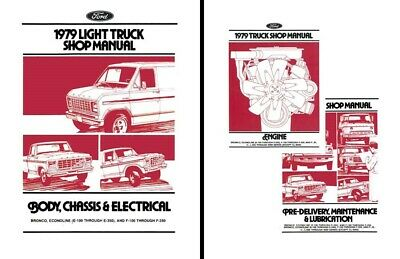 1979 Ford Truck Bronco Econoline Shop Service Repair ...