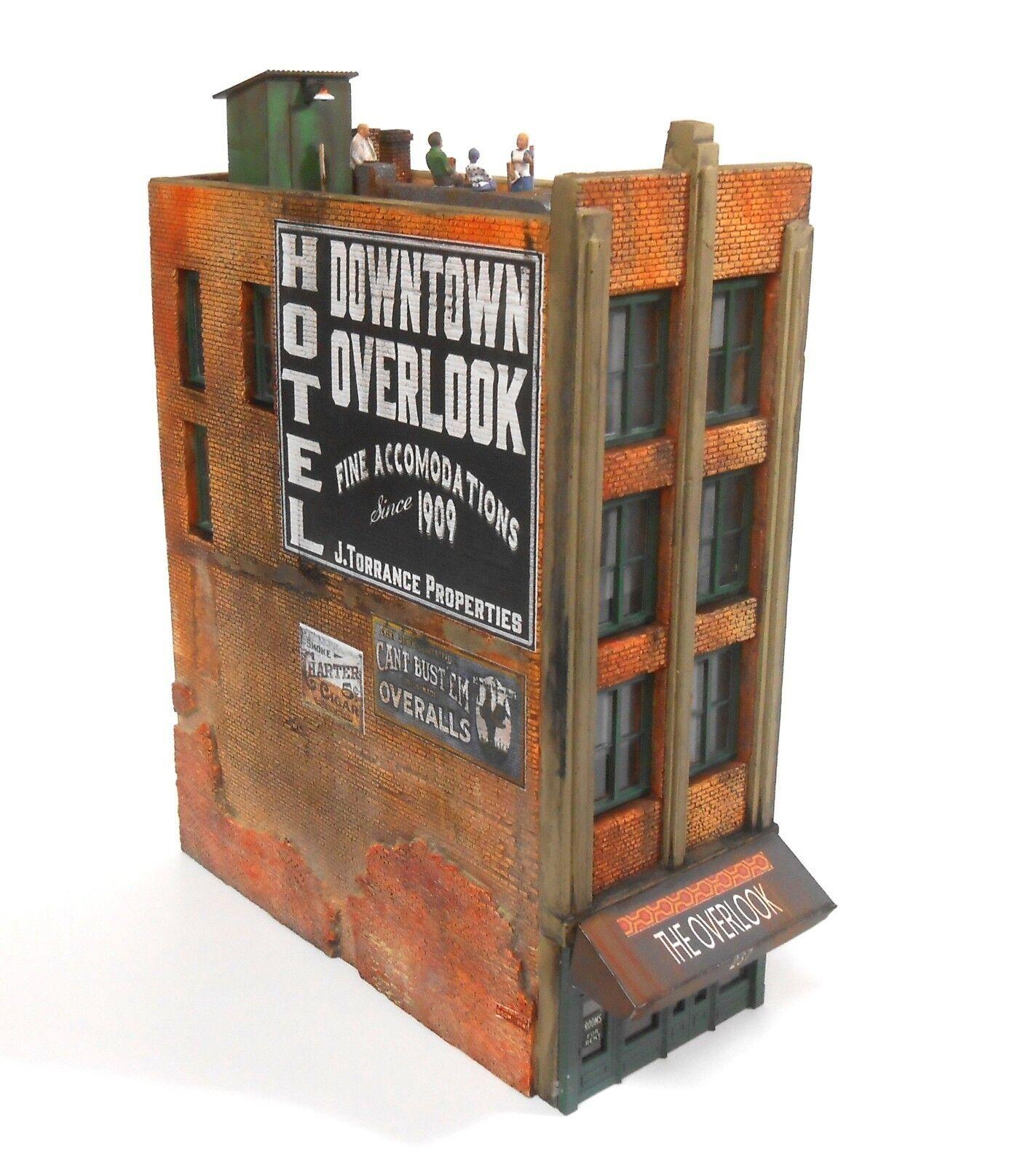 Downtown Deco HO Scale Downtown Overlook Hotel New Release + Decals & Bonus