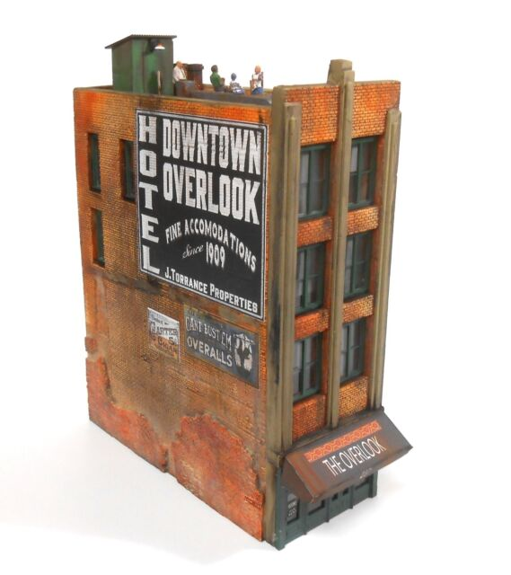 Downtown Deco HO Scale Building Kit Downtown Overlook Hotel + Decals & Bonus