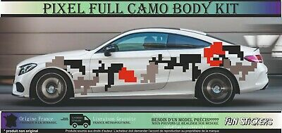 Full Car Camo Kit Graphics Stickers Decals Camouflage Bonnet Roof Vinyl Wrap St Ebay