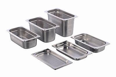 GN Behälter Gastronorm 1/3 perforiert gelocht Edelstahl 65 mm - 150 mm Tiefe