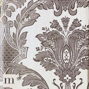 Brillo-De-Lujo-Gris-Plata-Frances-Floral-Plisado-Del-Lapiz-Cortina-Par-Forrado-de-66-X-72