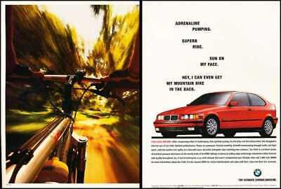 1996 BMW 328i 2-page Original Advertisement Print Art Car Ad J557