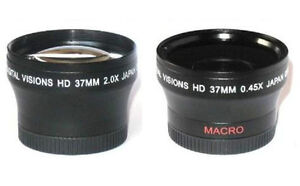 37mm Digital Vision Wide Angle & Telephoto Lens for Sony Camcorder & more models