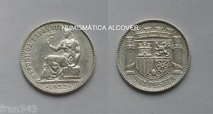 Republica EspaÑola Moneda De 1 Peseta Plata 1933 - Ebc / Spain Km#750 - Xf Pfsrhjw6-07224753-246915627