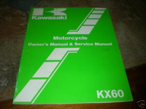 Kawasaki Shop Service Repair Manual 1984 Kx60 A2