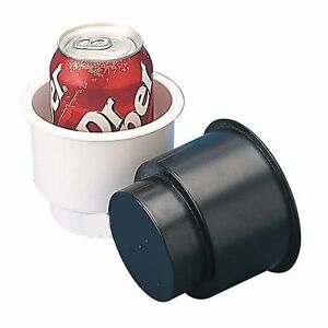 """Sea Dog 588061 Combo Recessed Drink Holder Insulated Beverage Wrap White 3-5/8"""""""