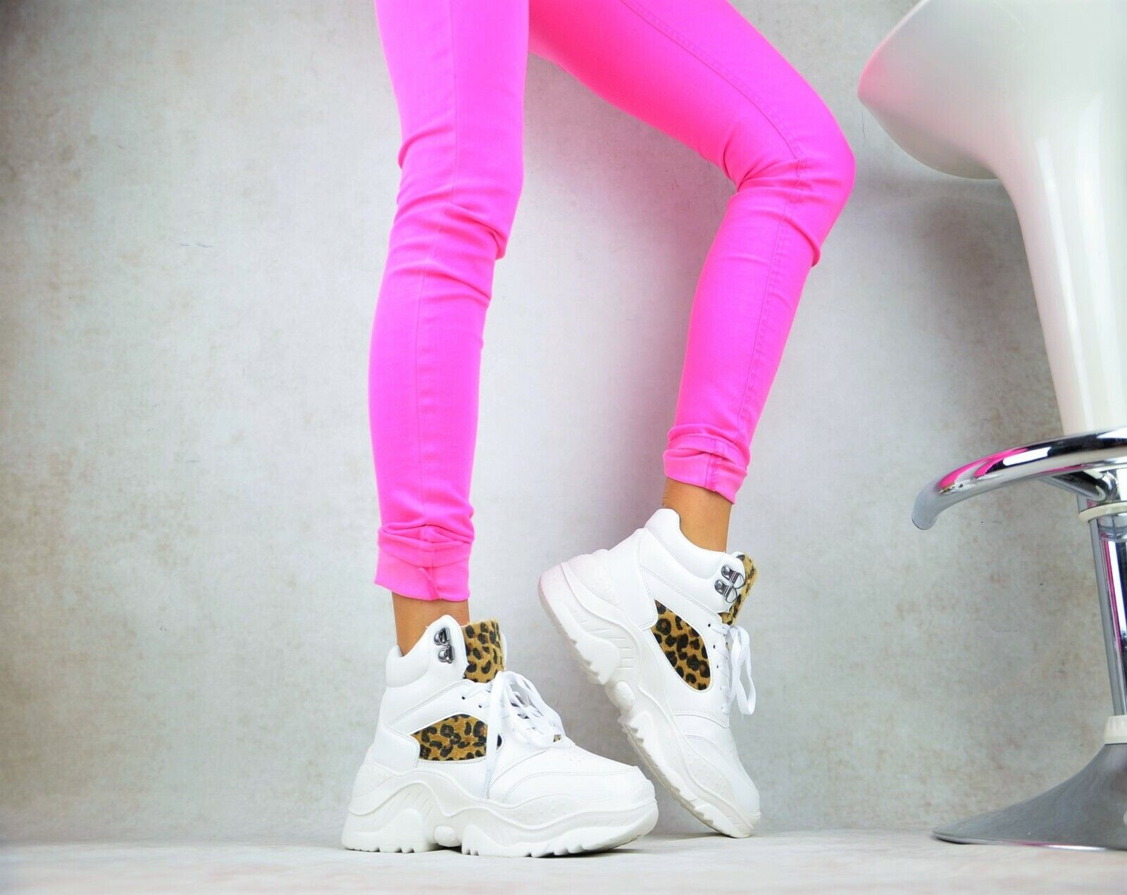 Designer of XXL Platform Womens Sneakers Boots Trendy Leisure Time Party