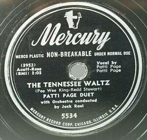 Patti-Page-The-Tennessee-Waltz-Boogie-Woogie-Santa-Claus-78rpm-Mercury-5534
