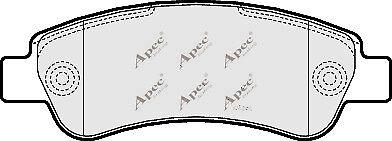 PAD1589-12 Month Warranty! 1x OE Quality Brand New Apec Brake Pad Set