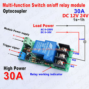 DC-12V-24V-Multi-function-Delay-Time-Counter-Relay-Switch-Turn-on-off-Module-30A