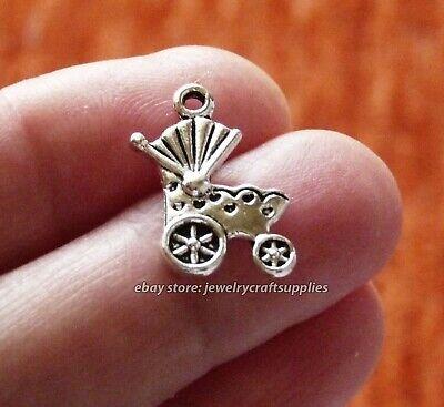 baby pram stroller pushchair Tibetan Silver Charms Pendants Beads 10pcs