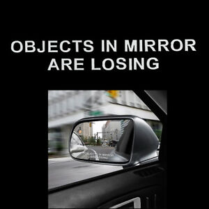 2-Pairs-Car-Rear-view-Mirror-OBJECTS-IN-MIRROR-ARE-LOSING-Auto-Vinyl-Sticker-Set