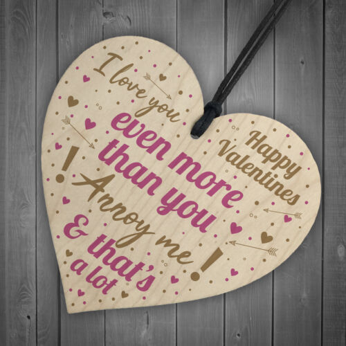 Love You Plaque Funny Valentines Gift For Him Valentines Day Card Wife Husband