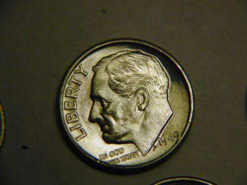 1949-D  Roosevelt Dime BU uncirculated b