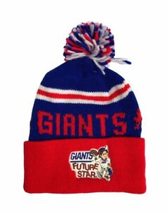 vintage new york giants kids youth OSFA pom beanie winter hat cap deadstock NWT