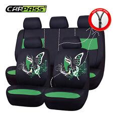 CAR PASS 11PCS Supreme Automobile Universal fit car Seat Covers black pink color