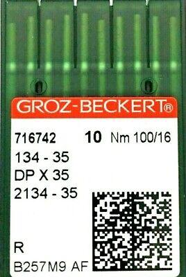 Groz-Beckert 134-35 San 5 Agujas de Máquina de Coser Industrial casi como nuevo:120//19 gebedur