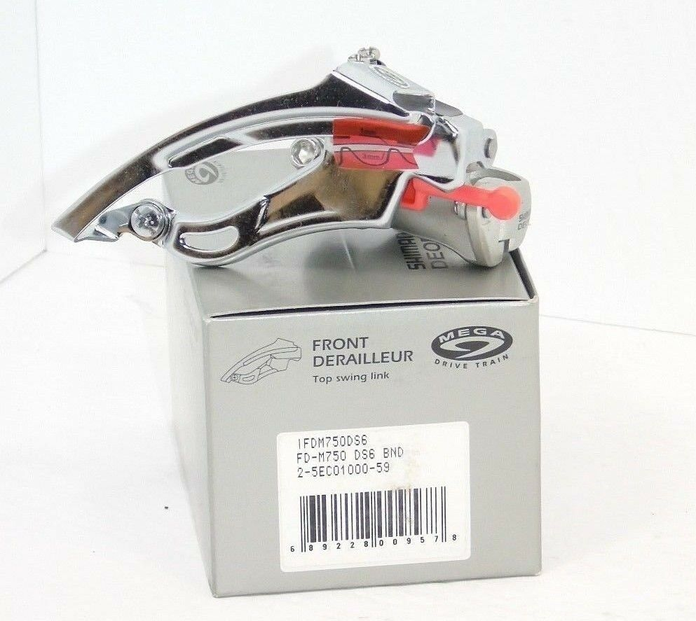 Genuine nos Shimano XT Desviador Delantero, FD-M750,  28.6, Top Swing abajo Tire, nuevo  los últimos modelos