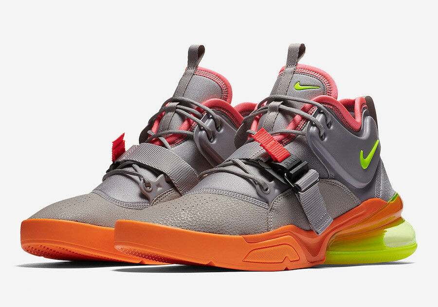 2018 Nike Air Force 270  Sherbert  SZ 11.5 Atmosphere Grey Volt AH6772-007
