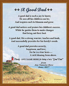 Personalized a good dad poem gift for father 39 s day for What makes a good father quotes