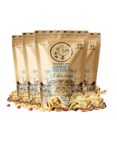 The Golden Duck Salted Egg Fish Skin Chips 金鸭新加坡咸蛋黄鱼皮125g