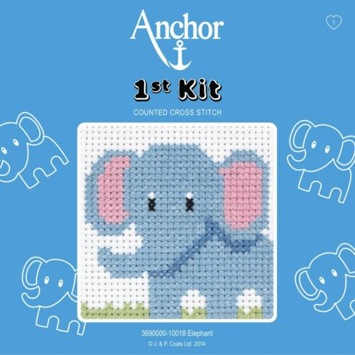 Beginners Perfect for Children 1st Kit Anchor Counted Cross Stitch Kit