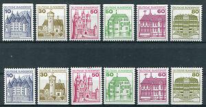 Bund-alle-C-D-Werte-Burgen-und-Schloesser-postfrisch-BRD-BuS-MNH-1028-1140-916