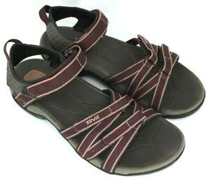 TEVA-TIRRA-Women-039-s-Size-9-Burgundy-Ankle-Strap-Water-Sports-Sandals-4266