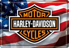 Harley Davidson Motorcycles USA Blechschild 10x14 cm Blechkarte 10120 Sign