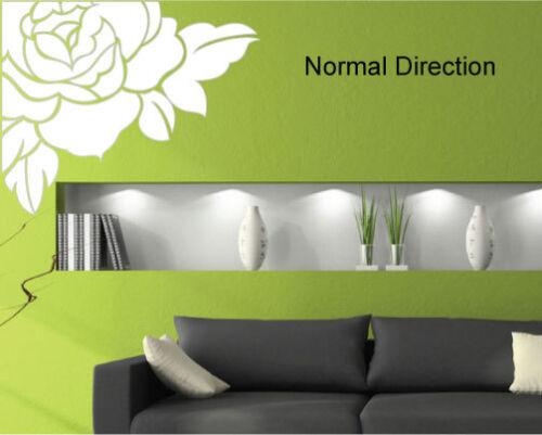 Wall Decal Luxury Flower Rose Art Vinyl Wall Stickers