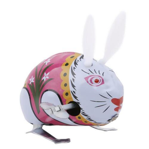 Novel Kids Jumping Hopping Rabbit Toy Funny Children Rabbit Tin Wind Up Toy BL3
