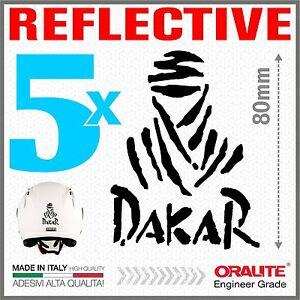 5x-DAKAR-black-Reflective-ADESIVI-PEGATINA-STICKERS-BMW-KTM-HONDA-SUZUKI-YAMAHA