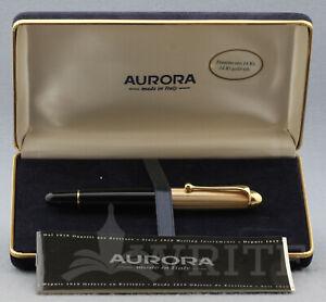 NEW ! FOUNTAIN PEN AURORA 88 BIG (mod.801) GOLD CAP NIB M