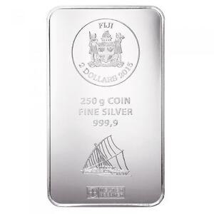 Münzbarren Fiji 250 Gramm Silber Argor Heraeus 999,9er Silberbarren 2015
